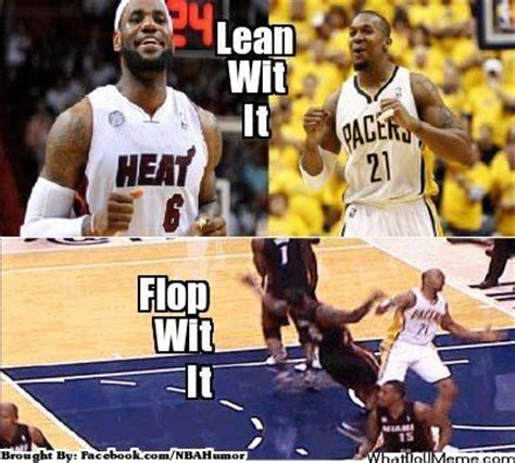 Lebron Flop Meme - lebron david west fined 5k for double flop dance a