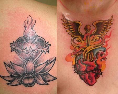 sacred heart tattoo designs sacred tattoos me now