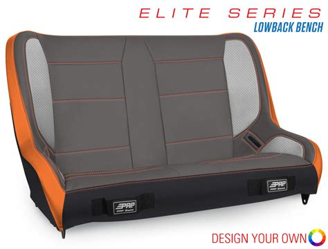 benched show elite series lowback bench seat 36 39 quot wide prp seats