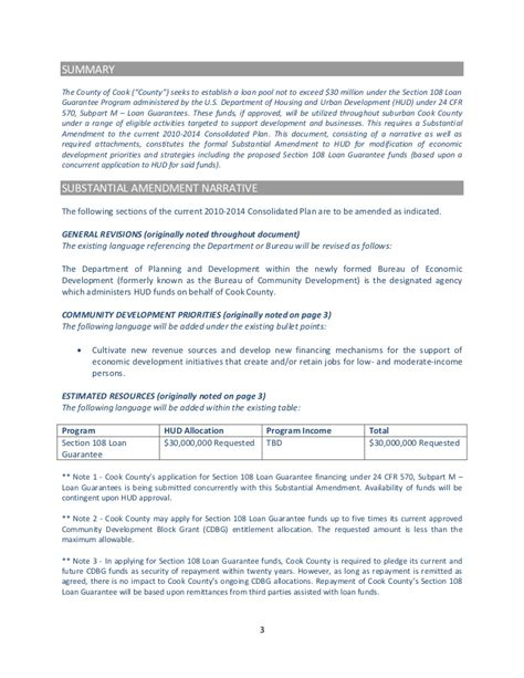 hud section 108 draft substantial amendment 2010 2014 consolidated plan