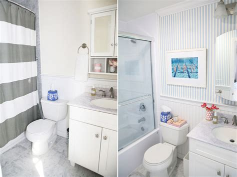 Bathroom Fitters Before And After Bathroom Makeover Lemon Stripes