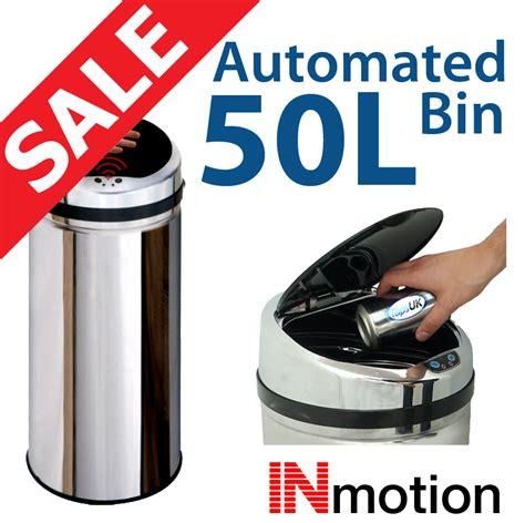 Kitchen Bin Sale by 50l Stainless Steel Auto Sensor Kitchen Waste Dust Bin Ebay