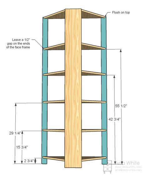 Beadboard Corner Trim - ana white corner cupboard diy projects
