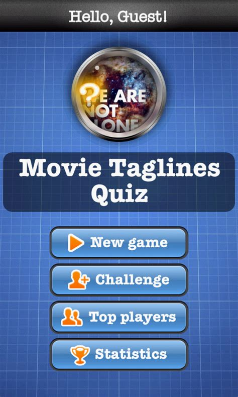 film quiz taglines movie taglines quiz free android app android freeware