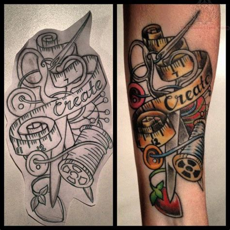 sewing tattoo designs sewing images designs