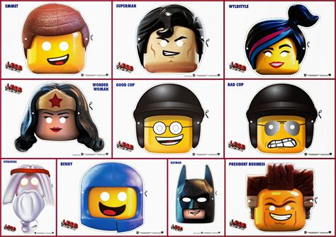 Lego movie free printable masks is it for parties is