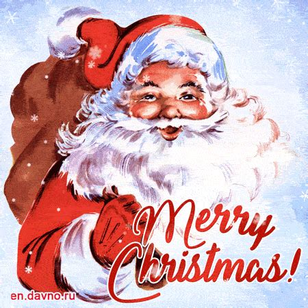 vintage santa claus merry christmas gif animation   davno