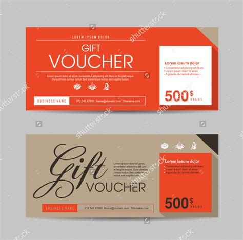 coupon template powerpoint 31 gift voucher templates free psd epd format