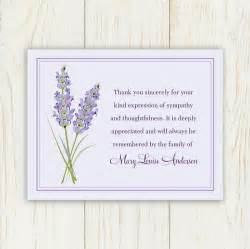 thank you card sle thank you funeral cards sympathy thank you cards personalized funeral