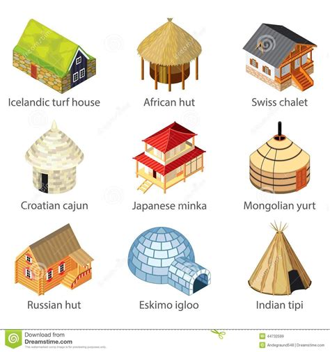 types of houses different kinds of house clipart collection