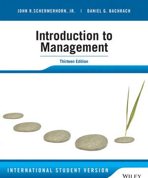 wiley introduction to management 13th edition international student version r