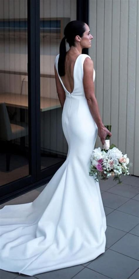 awesome simple wedding dresses  cute brides