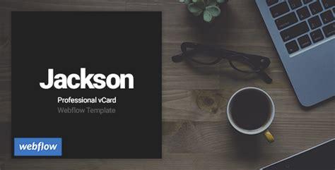themeforest webflow jackson professional vcard webflow template by webisir