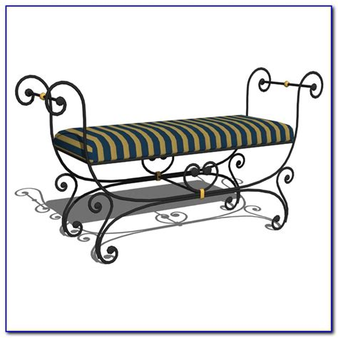 wrought iron bench with cushion small wrought iron bench cushion bench home design