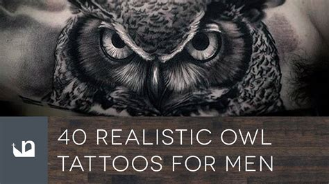 owl tattoos for guys 40 realistic owl tattoos for doovi