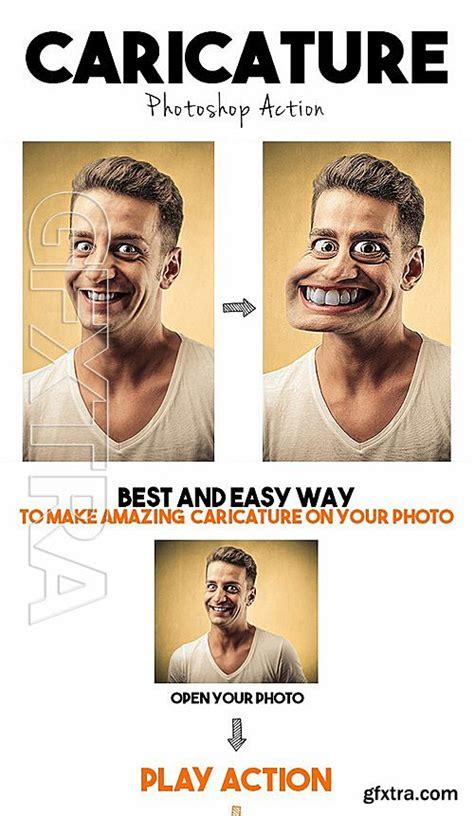 caricature tutorial photoshop cs3 graphicriver caricature photoshop action 12953551