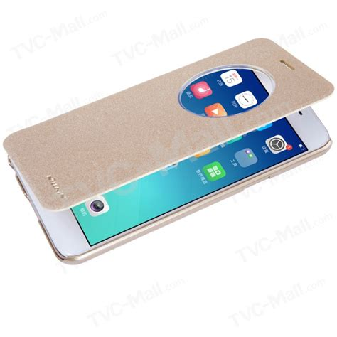 Flip Leather For Oppo F1s A59 nillkin sparkle series view window smart flip leather shell for oppo f1s a59 gold tvc mall