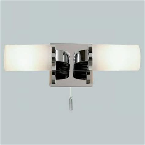 Endon Enluce Dual Candle Wall Light With Pull Switch Bathroom Light Pull Switch