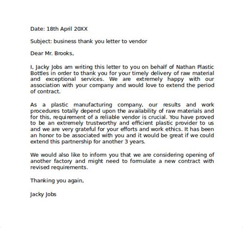 Thank You Letter Header Sle Personal Business Letter Format 6 Documents In Pdf Word
