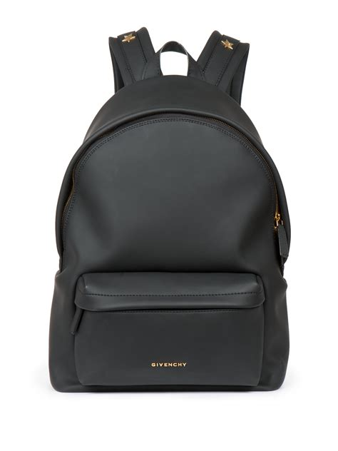 Lettering Faux Leather Backpack givenchy small faux leather backpack in black lyst