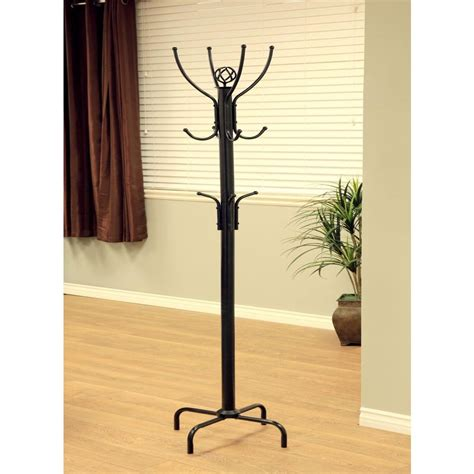 Home Coat Rack by Megahome Black 8 Hook Coat Rack Cr002 The Home Depot