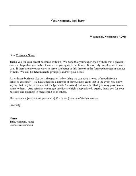 thank you letter business to customer business thank you letter the best letter sle