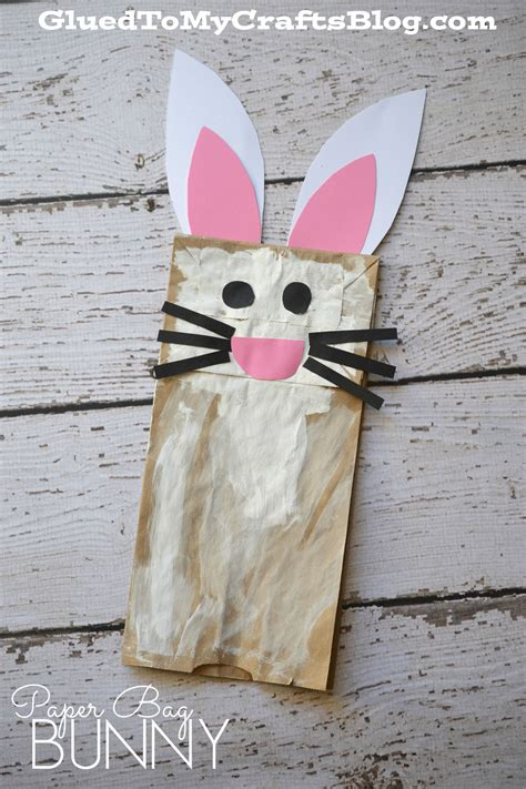 Easter Paper Bag Crafts - paper bag bunny kid craft