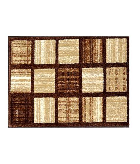 majesty home decor beige geometrical floor mat buy spider brown beige geometrical design floor mat buy