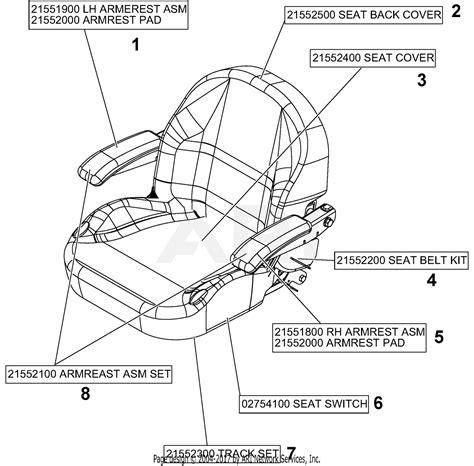 gravely   pro turn  parts diagram  seat service parts