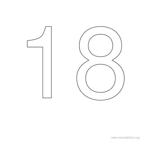 number 18 template number stencils 1 to 50 stencil letters org