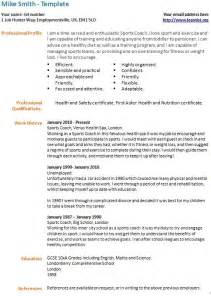 Resume Tips For Unemployed Term Unemployed Cv Exle Template Forums Learnist Org