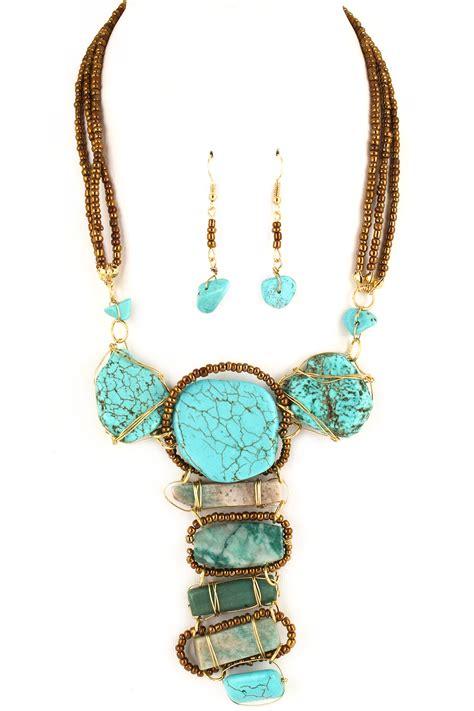 jewelry semi precious stones wired semi precious necklace set necklaces