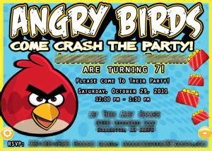 angry birds invitation card template angry birds
