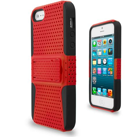 iphone 5g hybrid mesh heavy duty color cover with stand for iphone 5 5g 5s ebay