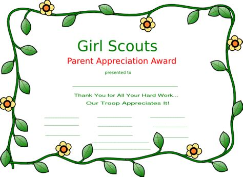 scout templates scout certificate templates scout clip