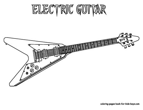 guitar coloring pages to print coloring pages for kids guitar coloring pages for kids