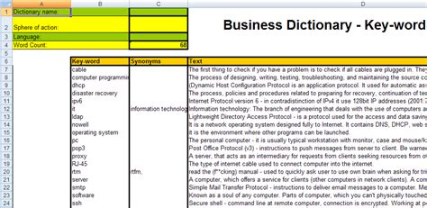 19 business data dictionary template data dictionary