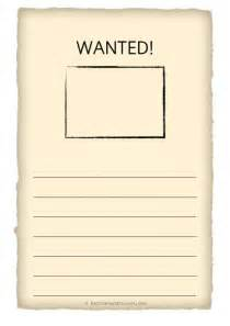 Free Wanted Poster Template For Kids Free Teaching Resources Eyfs Ks1 Ks2 Primary Teachers