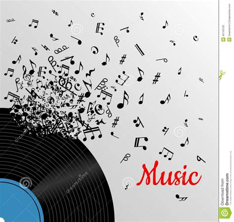 poster design notes retro music vintage poster stock vector image 45143193
