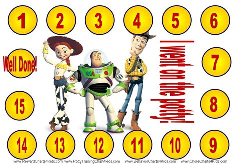printable reward charts toy story toy story potty training chart teaching kids to use the