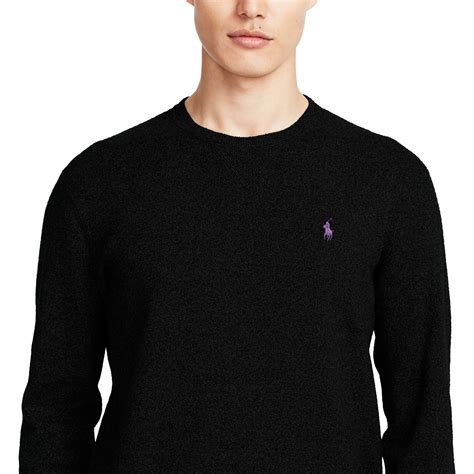 Polo Sweater polo ralph cotton crewneck sweater in black for