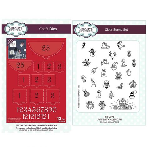 make your own calendar uk make your own advent calendar die and st bundle