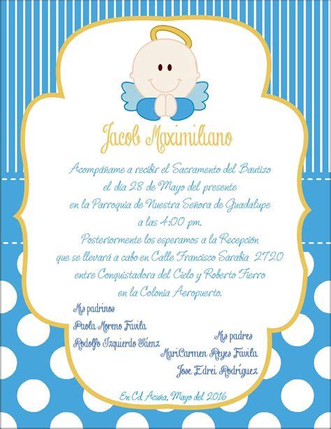 invitacion bautizo angel hecho por mi pinterest