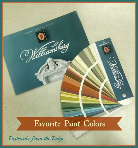 benjamin moore williamsburg color collection postcards from the ridge favorite paint colors the new