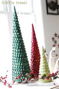 ruffle christmas trees