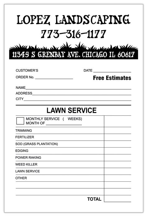 Landscaping Invoice Template Word Invoice Exle Landscaping Business Template