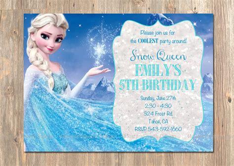 printable birthday party invitations frozen frozen birthday invitation elsa frozen invitation printable
