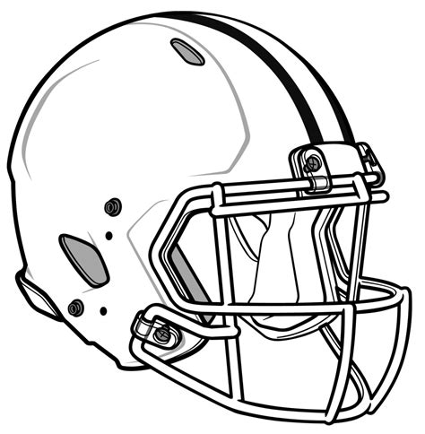 football drawing template how to draw a football helmet cliparts co