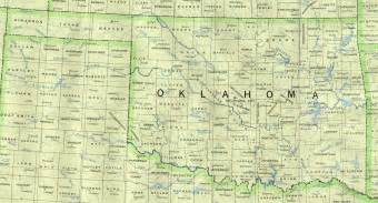 oklahoma united states map oklahoma outline maps and map links