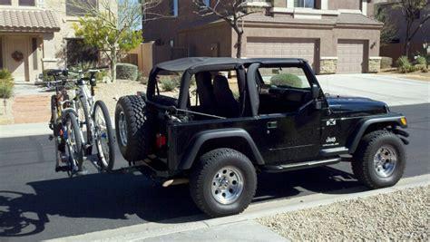 jeep wrangler mountain bike jeep wrangler bike carrier rack reccomendation mtbr com